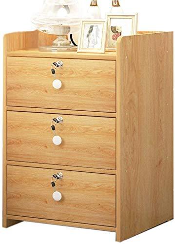 File cabinets Nattduksbord familj låsbart sängskåp, sovrum montering sidoskåp hörnskåp vardagsrum sidobord sidobord (färg: Träfärg)