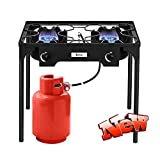 ZMIHANNA Stronger & Safer Propane Burner Stove with Stand, Cast Iron Gas Stove Portable Outdoor...