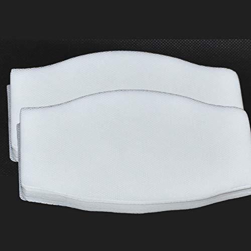 BEYBI® Filtro TNT Grande para mascarilla 16x9.5cm. Muy transpirable, hidrofugo.50 capas de tejido no tejido de 70gr, ENTREGA EN 24H (TNT 70gr) (tnt 70gr) (100 unidades blanco)
