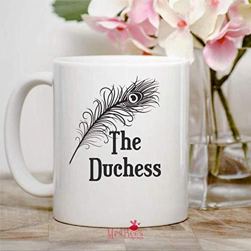 Meghan Markle - Taza de cerámica con diseño de la familia real británica The Duchess Downton Abbey Duchess Kate para mamá, regalo divertido para mamá, taza de té o té de 325 ml