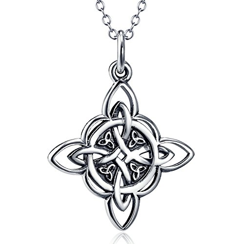 YFN Celtic Triquetra Knot 925 Sterling Silver Pendant Necklace 18' for Women(Celtic Triquetra Knot)