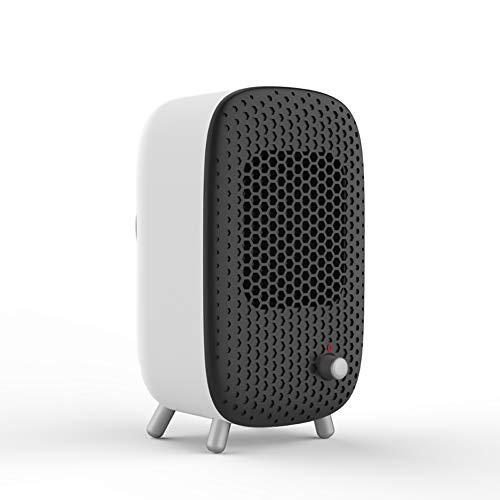 YYBF Mini Excel Eco Safe Termoventilatore Ceramico, 49 Decibel, plastica, per Ambienti di 15-20m², Nero