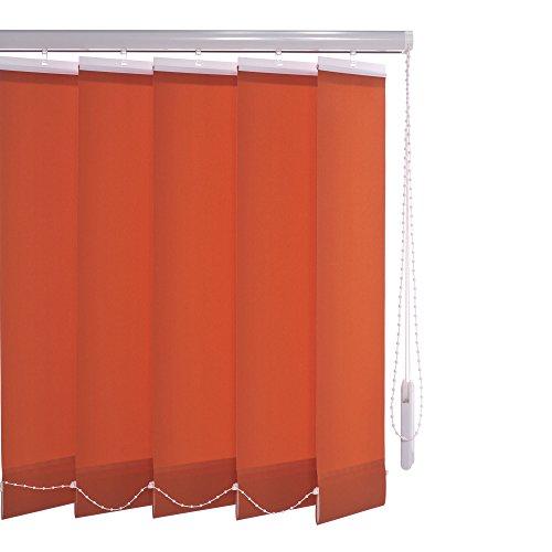 Liedeco Verticale lamelleninstallatie lamellengordijn verticale jaloezie | lamellenbreedte 89 mm | hoogte 180 cm of 250 cm | inkortbaar | rood