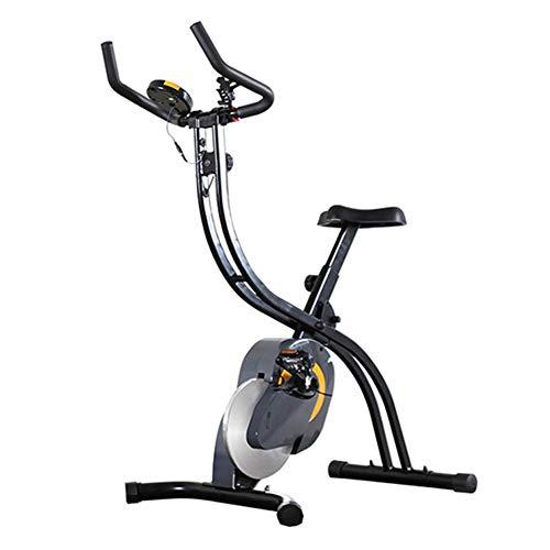 MIAOYO Bicicleta de Spinning de Ciclismo de Interior, Bicicletas de Ejercicio Verticales Plegables, Ventana LED de Bicicleta magnética Vertical y Capacidad máxima de Peso de 330 lbs / 150 kg
