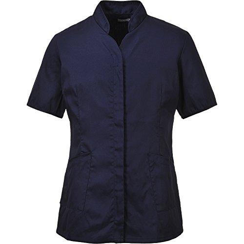 Portwest - Lw12 camisas nara mujer de primer nivel, de color azul marino, pequeña