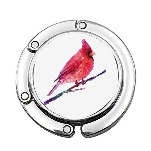 Aquarell Kardinal Künstlerische Anzeige Wintersaison Wildlife Weihnachtsferien Faltbare Dame Handtasche Tisch Schreibtisch Kleiderbügel Haken Geldbörse