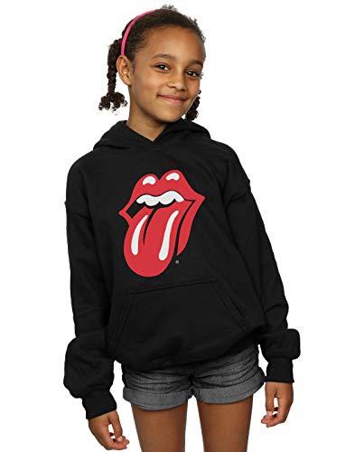 Rolling Stones Niñas Classic Tongue Capucha Negro 12-13 Years