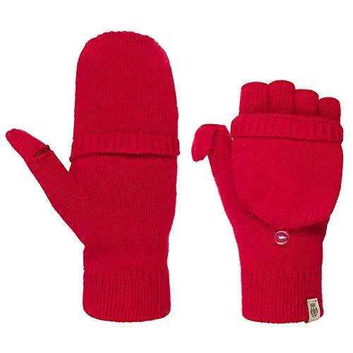 Roeckl Fingerlose Handschuhe mit Kaschmir Winterhandschuhe Wollhandschuhe (One Size - dunkelrot)
