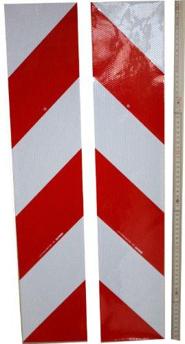 UvV-Reflex Aufkleber - Warnmarkierung - 1410 mm rechts-Links für KFZ, Container, stark reflektierend