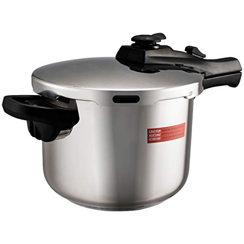 COSTWAY 6L Schnellkochtopf, Pressure Cooker, Dampfdrucktopf, Dampfkochtopf, Druckkochtopf, Kochtopf Edelstahl mit Sicherheitsventil Dampfgitter