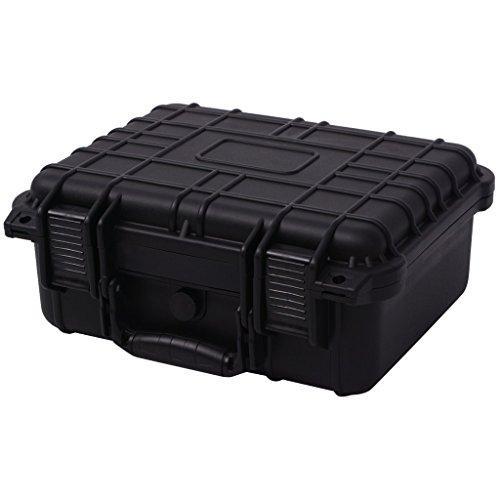 Festnight Universalkoffer mit 3 Schaumstoff Schutzkoffer Transportkoffer Koffer aus Polypropylen + ABS 35x29,5x15cm- Schwarz