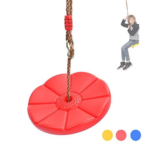WYLDDP Kinderschaukel | blau | rot | gelb, Kinderhängematte, Schaukel, verwendet in Innen- und Außengartenhöfen, Kindergeschenke,Rot