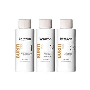 Tratamiento de Keratina Queratina Brasileña para Alisar KERAZON Kit Importada - Brazilian Keratin Treatment Complex Blowout