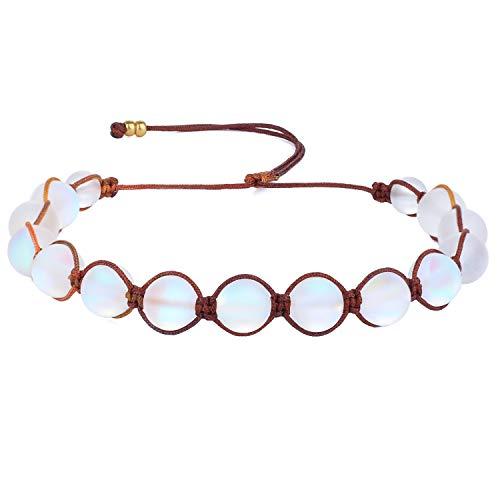 KANYEE Bracelets De Perles Lune Bracelet Rang Coloré Bracelets De Corde Faits à La Main pour Femmes – 23M