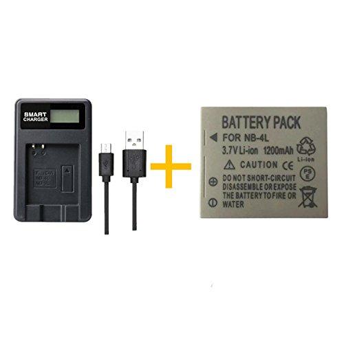 1 PC 1200mAh NB-4L NB4L Batterie mit LCD-Einzel-Ladegerät für Canon IXUS 50 55 60 65 80 75 100 I20 110 115 120 130 is 117 220 225