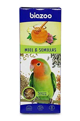 biozoo - Barritas de Miel & Semillas para Agapornis - Pack 5 Unidades