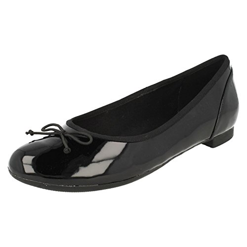 Clarks Couture Bloom, Damen Ballerinas, Schwarz (Black Patent), 40 EU