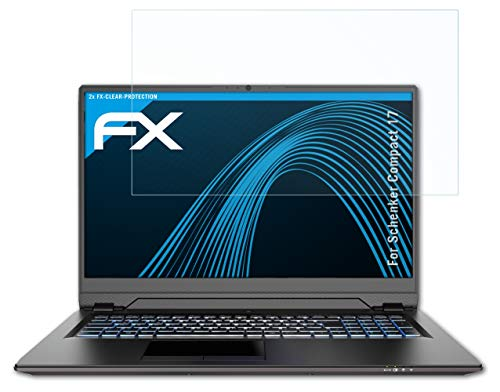 atFolix Schutzfolie kompatibel mit Schenker Compact 17 Folie, ultraklare FX Bildschirmschutzfolie (2X)