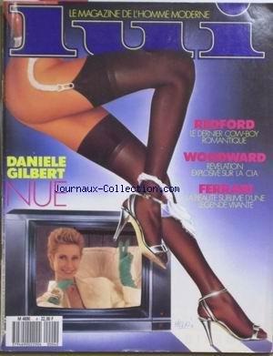 LUI [No 4] du 01/02/1988 - DANIELE GiLBERT NUE - ROBERT REDFORD - WOODWARD - REVELATION EXPLOSIVE SUR LA CIA - FERRARI.