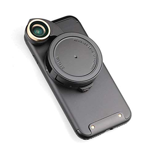 Ztylus 4-in-1 Revolver Lens Smartphone Camera Kit for Apple iPhone 7: Super Wide Angle, Macro, Fisheye, CPL, Protective Case, Phone Camera, Photo Video