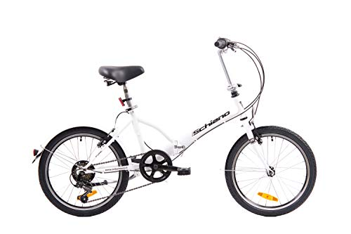 F.lli Schiano Pure Bicicleta, Adulto Unisex, Blanco-Negro, 20 ''