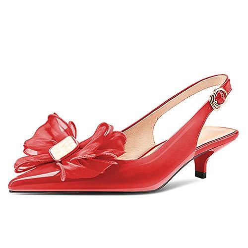 Lutalica W Zapatos de tacón bajo para novia de mujer de piel...