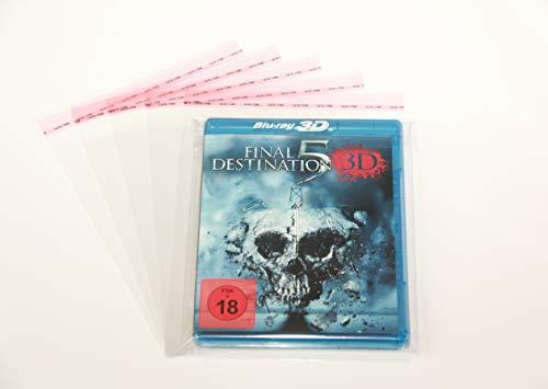 200 Stück Blu-ray Steelbook Hüllen Schutzhüllen Folienhüllen mit Verschluss bis 15 mm