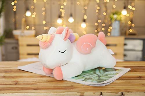 20-100cm Unicornio Peluches Suave de Peluche Animal de Dibujos Animados Caballo Almohadas para bebés Muñecas Pegaso Regalos de año Nuevo para niños Niños 30cm newwhite