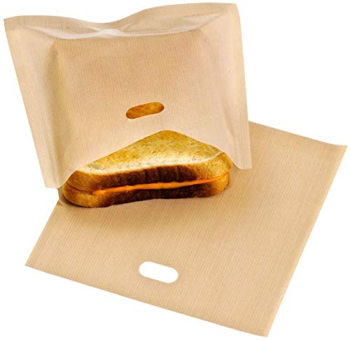 Vision4ever Reusable Toastie Bags Sandwich Toast Bags Pockets Non-Stick Toasty For Kitchen Accessories (2 Pcs)