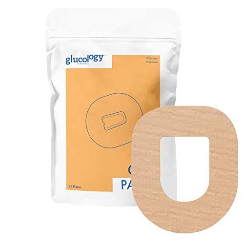 Glucology - Omnipod CGM Pflaster Beige   25er-Pack   Wasserfestes flexibles Klebepflaster für Diabetes CGM