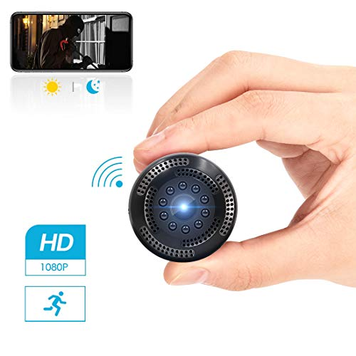 Supoggy Caméra Cachée sans Fil 1080P HD Mini Caméra Espion WiFi avec Enregistreur Vidéo / Détecteur de Mouvement/ Vision Nocturne/ Surveiller à Distance pour iPhone/ Android/ iPad