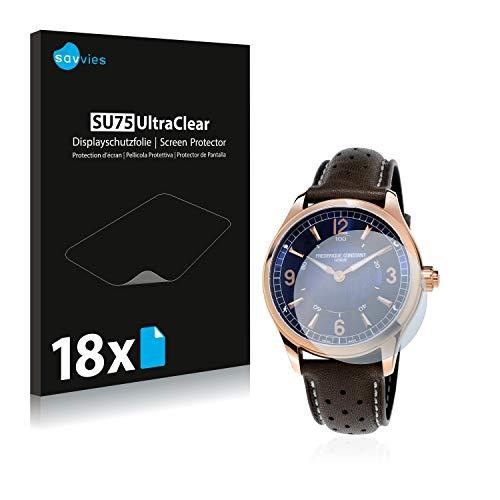 savvies 18-Pezzi Pellicola Protettiva Compatibile con Frédérique Constant Horological Smartwatch Protezione Schermo Trasparente