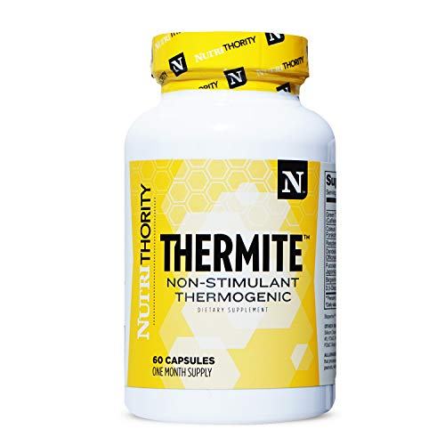 THERMITE- Non-Stimulant Thermogenic Fat Burner with Green Tea and Forskolin for Enhanced Metabolic Capacity Without The Jitters