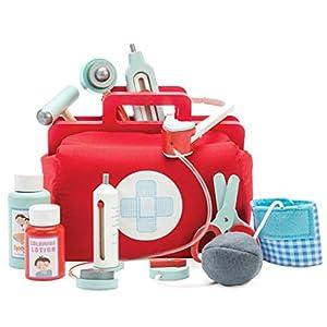 Le Toy Van - Juego simbólico de imaginación | Maletín de Médico de juguete para niños y niñas | Juego de imitación Honeybake | A partir de +3 años