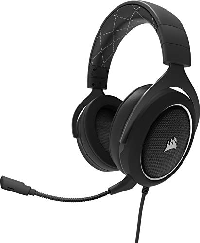 Corsair HS60 Gaming Headset 7.1 Surround (mit abnehmbaren Mikrofon, für PC/PS4/Xbox One/Switch/Mobiltelefon) weiß
