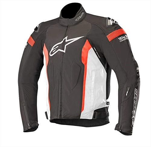 Alpinestars Men's T-Missile Drystar Motorcycle Jacket Tech-Air Compatible, Black/White/Red, Large
