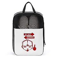 シューズケース リンプビズキット シューズ袋 シューズバッグ トラベル 旅行ポーチ 旅行バッグ 靴収納 手持ち付き 収納袋 靴入れ 多機能 防水 防塵 トラベル用 2点セット 大容量