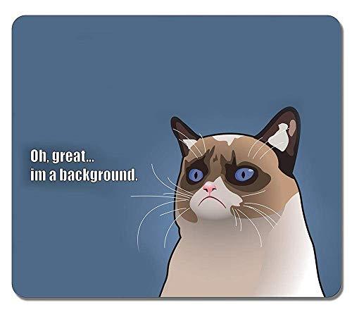 Kundenspezifische rutschfeste strukturierte Oberflächenwasserbeständige Mousepad Grumpy Cat Tardar Sauce Angry Kitty Langlebige Gaming-Mauspads Oblong Mousepad
