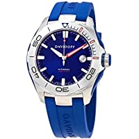 Davidoff Velocity Diver Automatic Blue Dial Blue Rubber Men's Watch