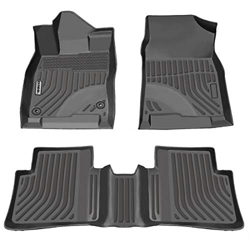 OREALTECH Fußmatte Auto für Honda Civic 2016-2019 Allwetter Original Qualität TPE Autoteppich Schwarz 3-teilig Automatte vorn und hinten