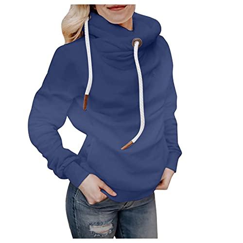 Berimaterry hoodies mujer sudaderas mujer con capucha moda top blusa manga larga chándal mujer Jerséis manga larga con estampado de tie dye moda chaqueta sudaderas de cuello alto otoño invierno