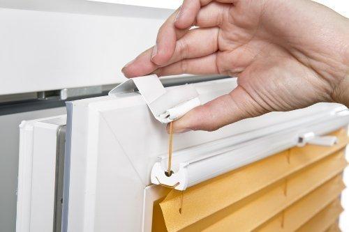 4x Klemmträger Klemmfix zur Montage von Plissee ohne Bohren UNIVERSAL