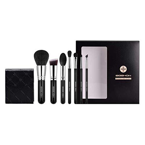 GCX- 7 pièces de Maquillage de Brosse for Les débutants étudiants Doux Set de beauté Brosse Professionnelle Ensemble Complet de Brosses Beau (Color : Black)