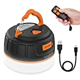 Sinvitron Portable LED Camping Lantern Rechargeable, Power Bank 6400mAh, Camping Tent Lights Lantern Remote, Waterproof, Magnetic, 5 Light Mode Outdoor Lantern for Power Outage Hurricane Backpacking