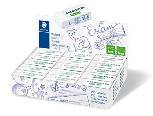 Staedtler 525 B30 gum PVC- en latexvrij, 19 x 13 x 43 mm, doos met 30 stuks, wit