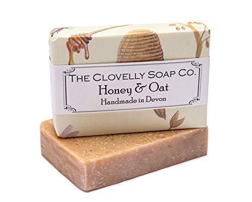 Clovelly Soap Co Natürliche handgemachte Peeling Seife für alle Hauttypen Honig & Hafer 100g