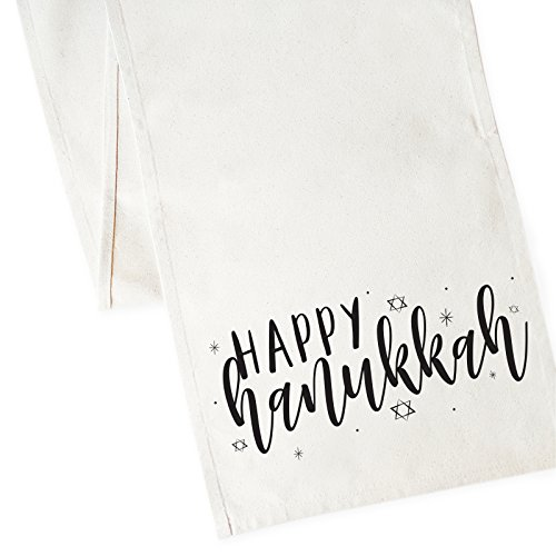 The Cotton & Canvas Co. Happy Hanukkah Table Runner and Holiday Party Decoration
