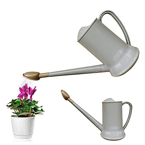 Regadera de 2 litros con caño Largo, de plástico, Desmontable, para Plantas, regadera, rociador de...
