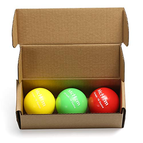 McHom 2.8in Weighted Baseball Training Balls for Hitting, Batting or Pitching Practice | 3-Pack | Weights Include 12, 14 and 16 oz