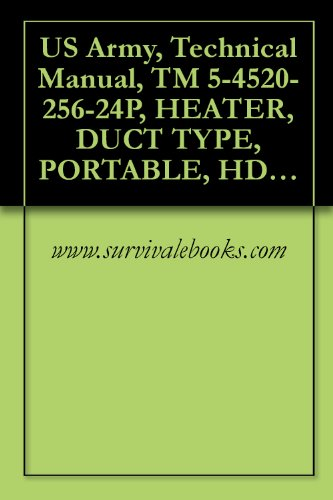 US Army, Technical Manual, TM 5-4520-256-24P, HEATER, DUCT TYPE, PORTABLE, HDU-36/E. BTU, MODEL H82, (NSN 4520-01-254-8548), AND MODEL M83, (4520-01-33)